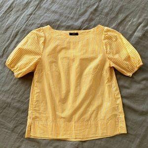 J. Crew marigold stripe puff sleeve top